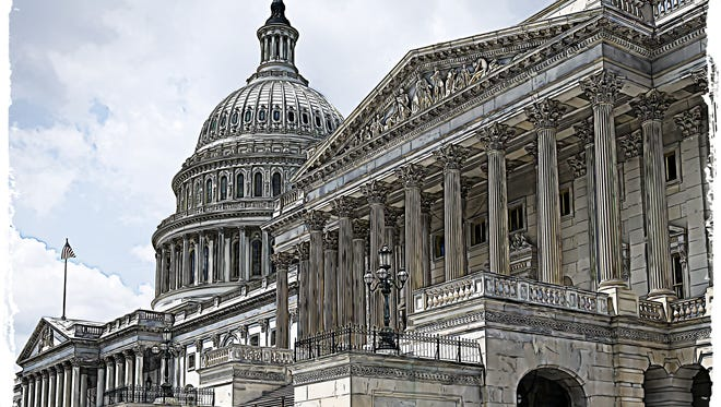 A photo illustration based on a photo of the U.S. Capitol.