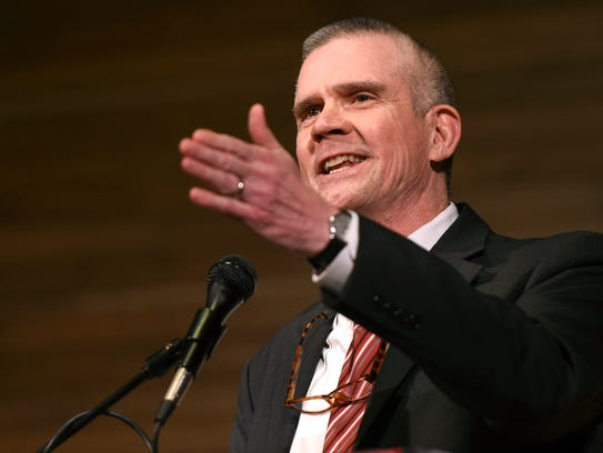 FILE - In this March 22, 2018 file photo Matt Rosendale,