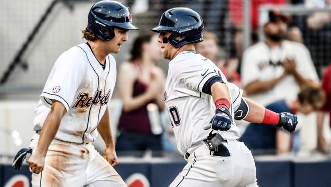 Tyler Keenan (right), Cole Zabowski (left) and the rest of their Ole Miss teammates are in good position for a national seed in the NCAA Tournament.