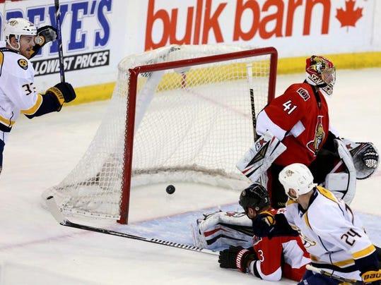 Predators Senators Hockey