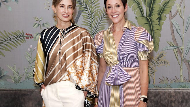 Silvia Tcherassi and Beth Buccini, both wearing pieces from the Resort 2020 collection, during the designer's personal appearance event that marked the final event celebrating Kirna Zabête's 20th anniversary.