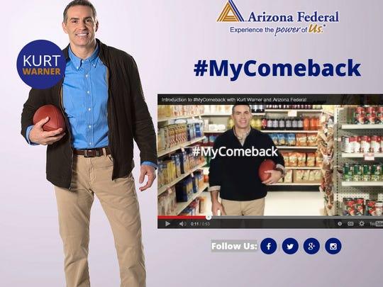 Filmed in north Phoenix, Arizona Federal Credit Union's Sunday ad will feature a surprise announcement by former Arizona Cardinals quarterback Kurt Warner.