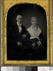 Portrait of Rowland and Rachel Robinson. The Robinsons were leaders of radical abolition in Vermont. Their home in Ferrisburgh is now the Rokeby Museum.