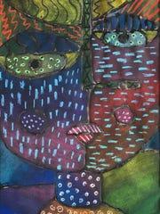 Sixth-grader Grace Sivak's art won the best in show
