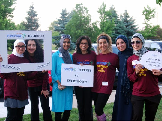 A group of Fasting 5K organizers gather during the event.