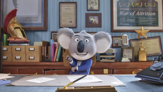 "Matthew McConaughey is the voice of Buster in the movie ""Sing."""