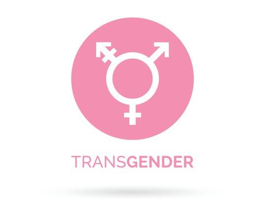 Transgender icon. Transgender sign. Pink transgender symbol.
