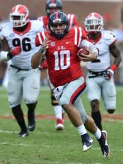 Ole Miss quarterback Chad Kelly has the Rebels at 2-2 this season after a 31-point win against Georgia Saturday.