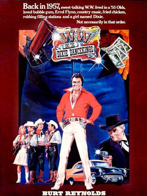 """""""W.W. and the Dixie Dancekings"""" movie poster."""