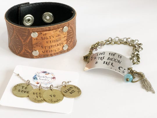 BlackByrd Jewelry artist Heather Eggleston's items