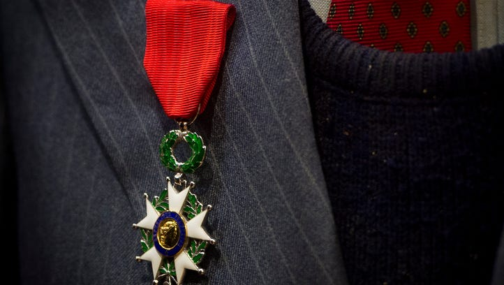 Legion of Honor medal, France's highest military honor, given to WWII vets from Knox, NC