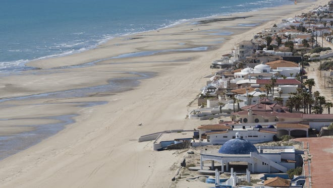 The beach at Las Conchas is almost empty of tourists in Puerto Penasco (Rocky Point), Mexico in 2010. Sonora tourism officials say they are working to boost trade and tourism with Arizona.