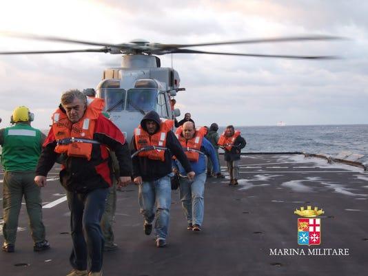 Greek ferry fire rescue