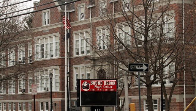 A math teacher at Bound Brook High School in Bound Brook, N.J., was suspended 120 days without pay for sending nude photos of himself on a school computer; the district wants him fired.