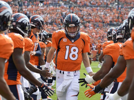 Quarterback Peyton Manning has always kept his eyes squarely on the prize. Tonight that means taking on the Lions and his former coach, Jim Caldwell.