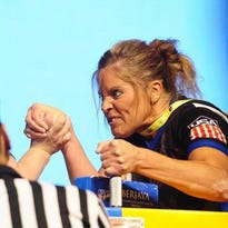 The U.S. team took second place overall in the master class at the World Armwrestling Championships.