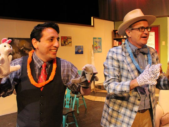 "Pedro Ramirez is Lucien (from left) and Jon Mark Hogg is Arnold in Angelo Civic Theatre's production of ""The Boys Next Door."""