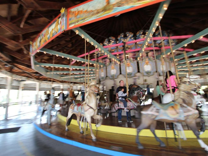 The Forest Park Carousel in Queens, N.Y., features the carved horses of German immigrant Daniel Muller, who was known for his intricate work during the early 20th century, and is considered a master of the craft.