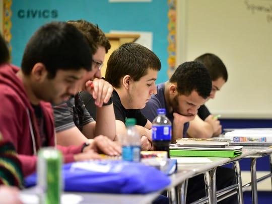 Students at Chambersburg Area Senior High School, Chambersburg,