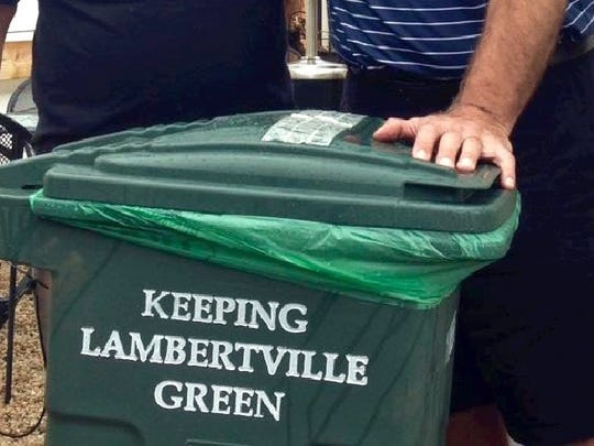 """Lambertville began its """"Third Can"""" program in 2014 to ensure that commercial food wastes were composted, instead of tossed out with the trash."""