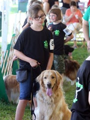 FInal day for the 2016 Somerset County 4-H Fair is photographed on Friday  August 12, 2016. The 4-H Dog Club held a novice dog show for young dog owners to allow them to see what it would be like to dog their dog at a dog show.