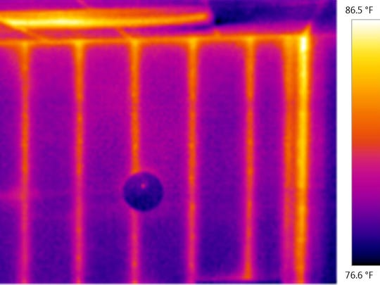 Thermal images allow you to see where your home is poorly insulated.