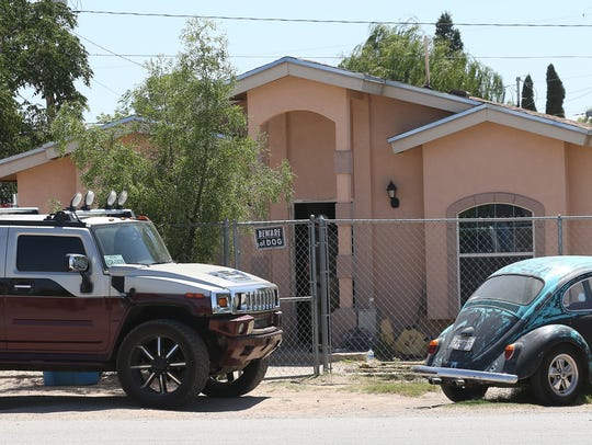 This home on La Fogata Road in Socorro was raided as