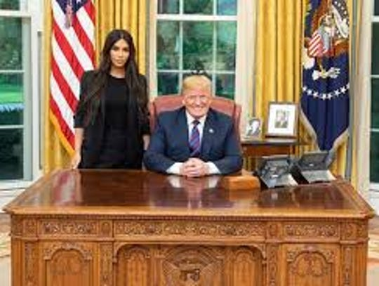 Kardashian West met with President Donald Trump at