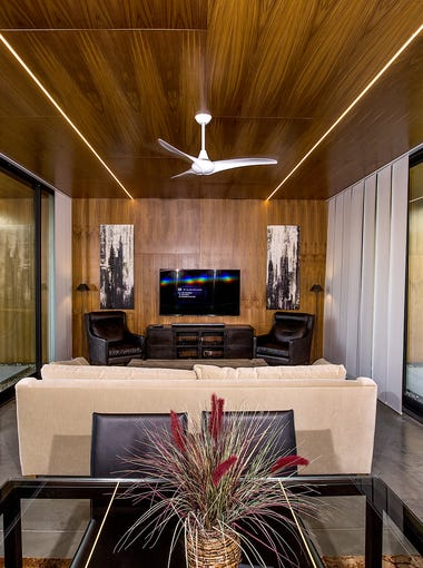 The living room in Dr. Jade Homsi cool home in Phoenix.