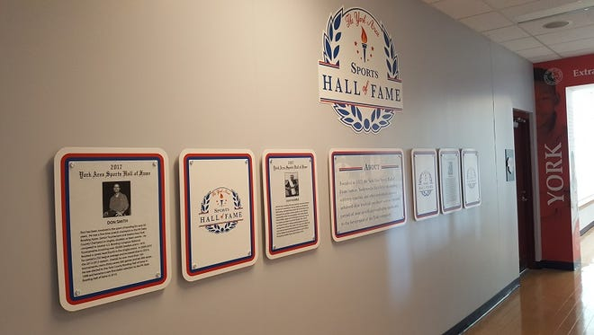 The York County Sports Hall of Fame has been relocated to the skybox level of PeoplesBank Park.