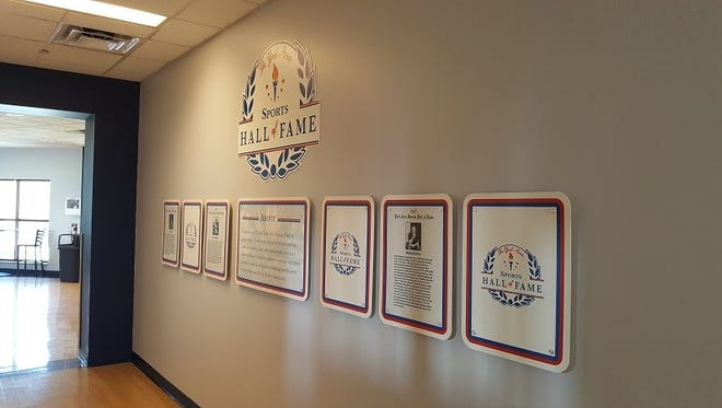 The plaques honoring the members of the York Area Sports Hall of Fame have a new home at the York Revolution's PeoplesBank Park.