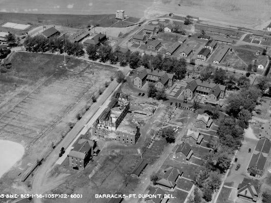 Fort DuPont 1936 barracks.jpg