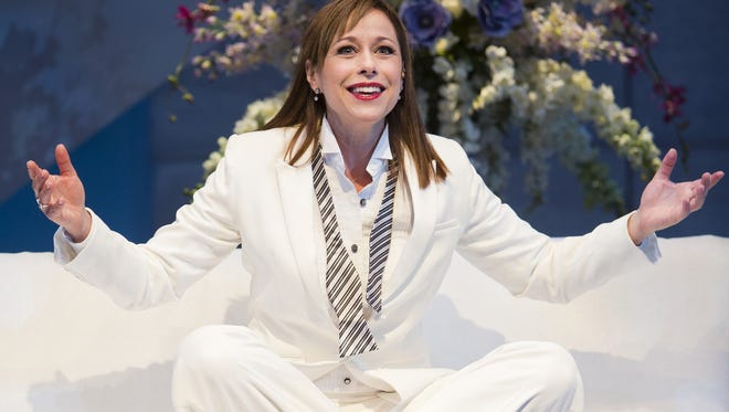 """Paige Davis in Arizona Theatre Company's production of """"An Act of God."""""""