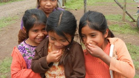 Guatemalan girls play during a St. George Rotary trip to the country.