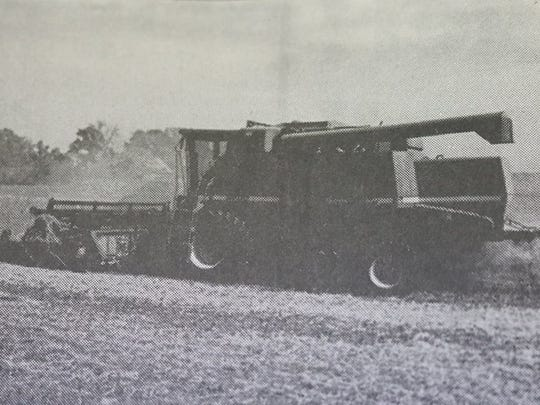 Harvest season was in full swing in the county in October of 2000 as farm machinery became a frequent sight on county roads and in county fields.