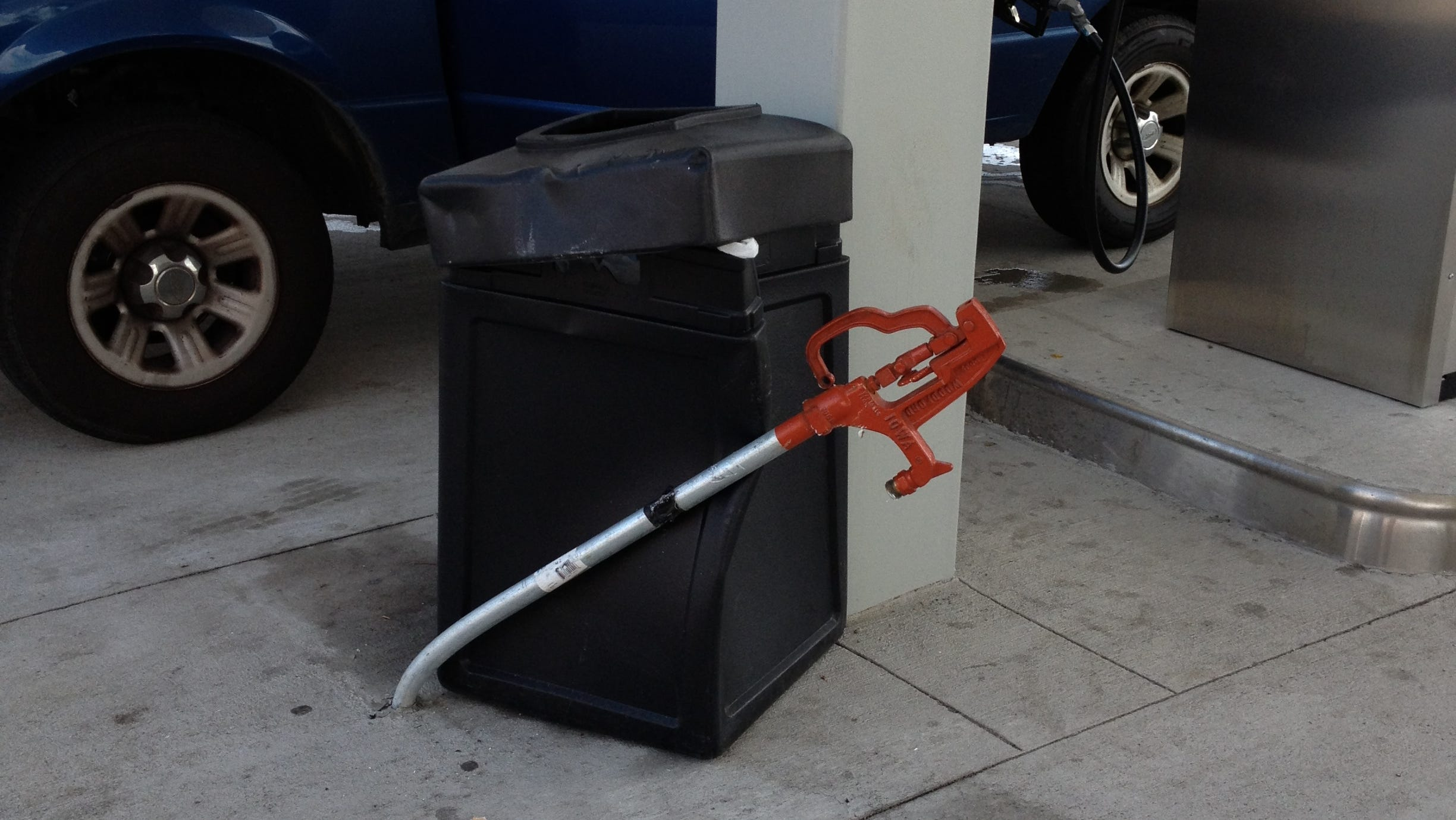 O'Donnell bent a water pipe and dented a trash can before her first fuel-tank fill.