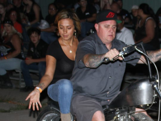 Selina and Lee Cook-Jordan competed in the biker games
