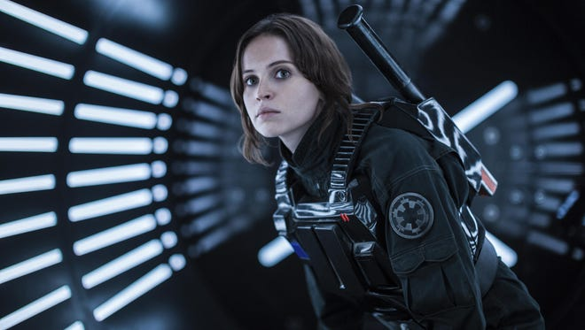 "Felicity Jones plays Jyn Erso in ""Rogue One: A Star Wars Story."""