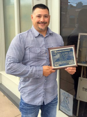 Danny Udero was awarded first place for his education writing by the New Mexico Pres Association.