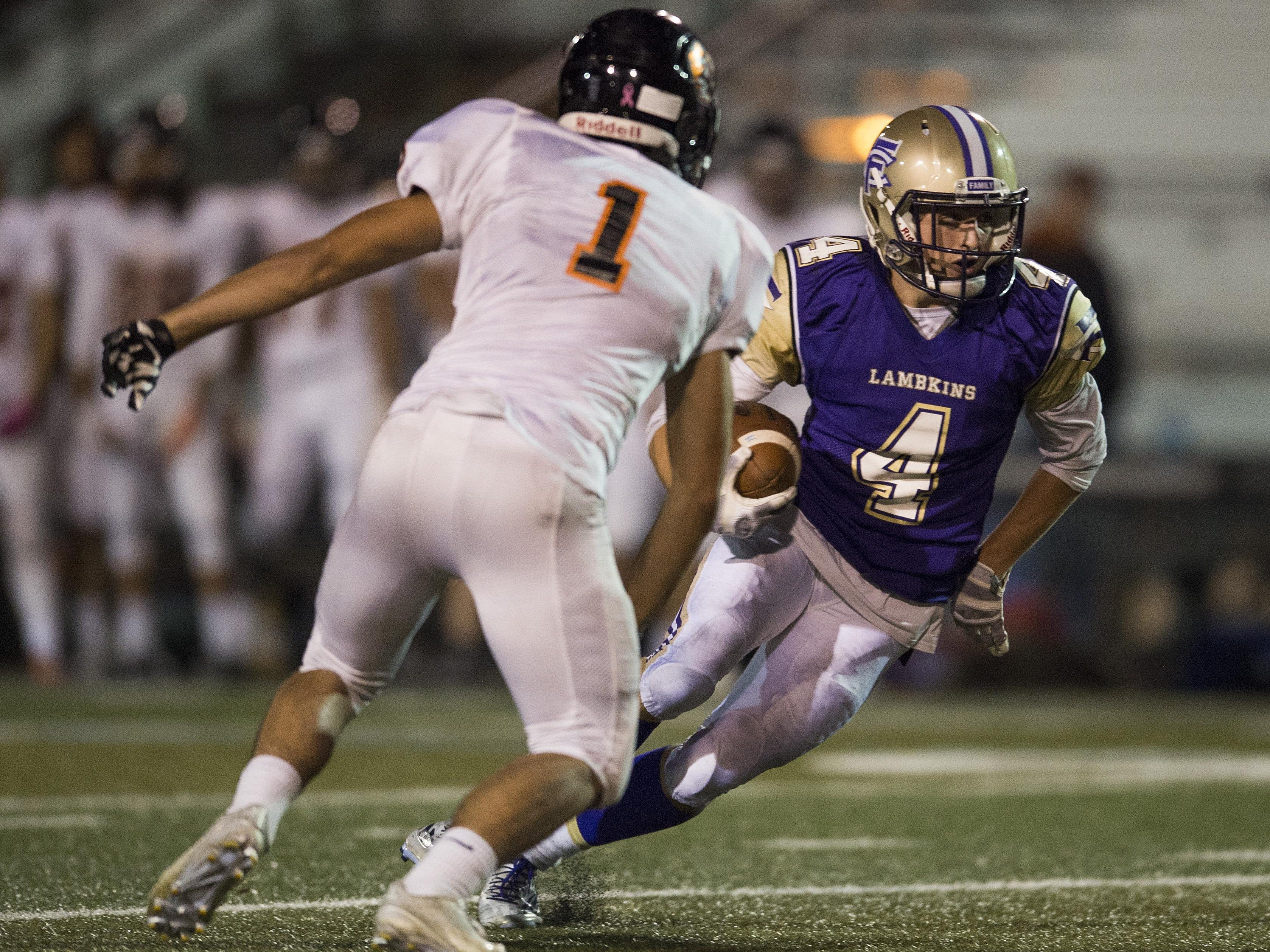 Kielar Harpham of Fort Collins High School leads all area football players in receiving yards.
