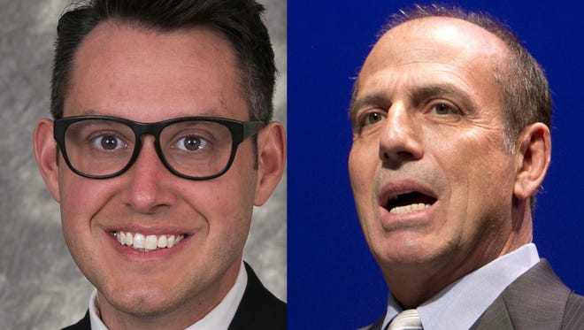 Kevin Patterson (left), a candidate for Phoenix City Council, and Sal DiCiccio, the incumbent.