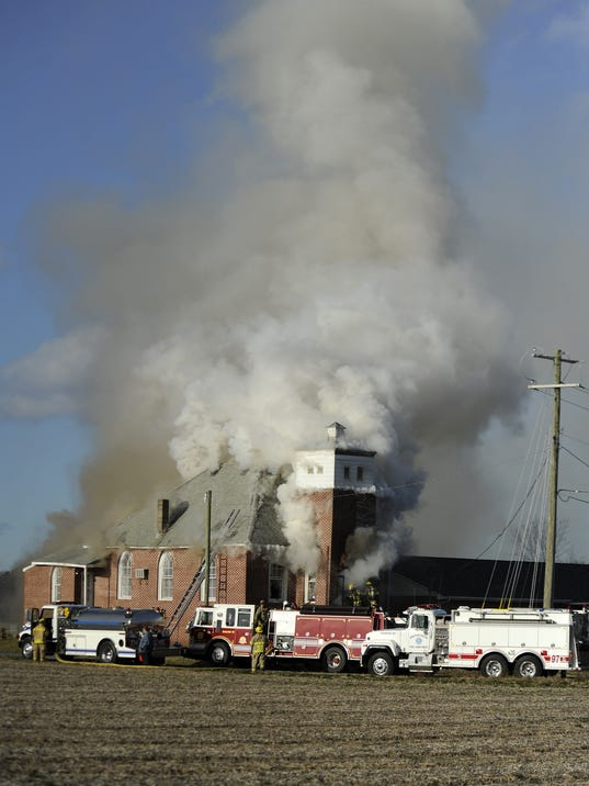 Adams Church fire