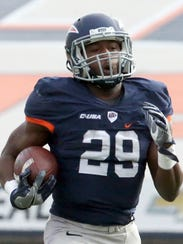UTEP running back Aaron Jones steams to the goal line