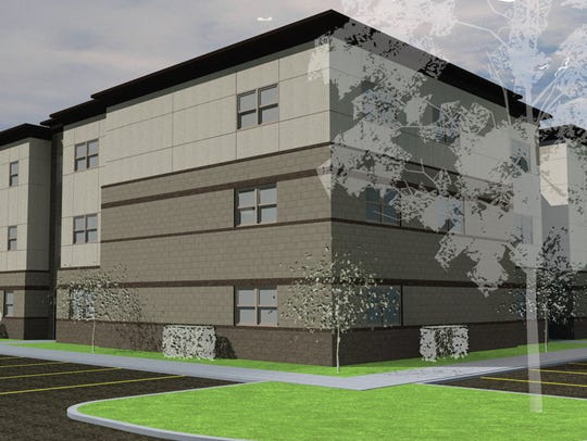 An architectural rendering depicts a proposed new 126-student