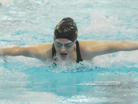Junior Aubrey East is one of the team's top swimmers