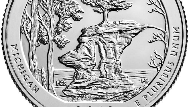 The U.S. Mint is officially launching its America the Beautiful Quarter program on Feb. 7, 2018, in Munising, featuring the state's entry for the series, the Pictured Rocks National Lakeshore quarter.