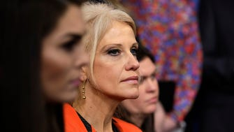 President Donald Trump's senior counselor Kellyanne Conway listens during the daily White House briefing Monday, Jan. 23, 2017.