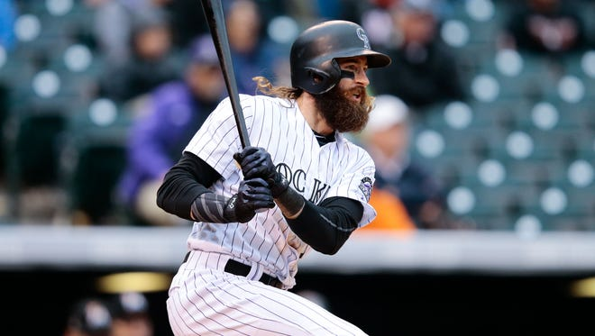 Rockies center fielder Charlie Blackmon led the NL with a .331 average last season and also drove in 104 runs.