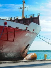 """Matson shipping company held a vessel naming ceremony for one of its vessels at the Port Authority of Guam on Friday, Sept. 16, 2016. The ship, """"Papa Mau,""""  was named after the late traditional navigator Pius """"Mau"""" Piailug who is sometimes referred as """"Micronesia's grand master navigator."""""""