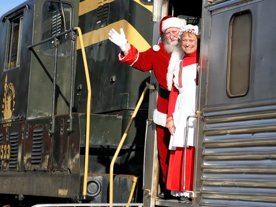 Santa Express is ready to leave the Cape May Seashore